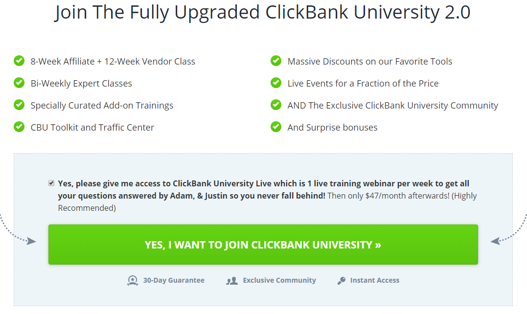 Work at home with ClickBank University Affiliate Program