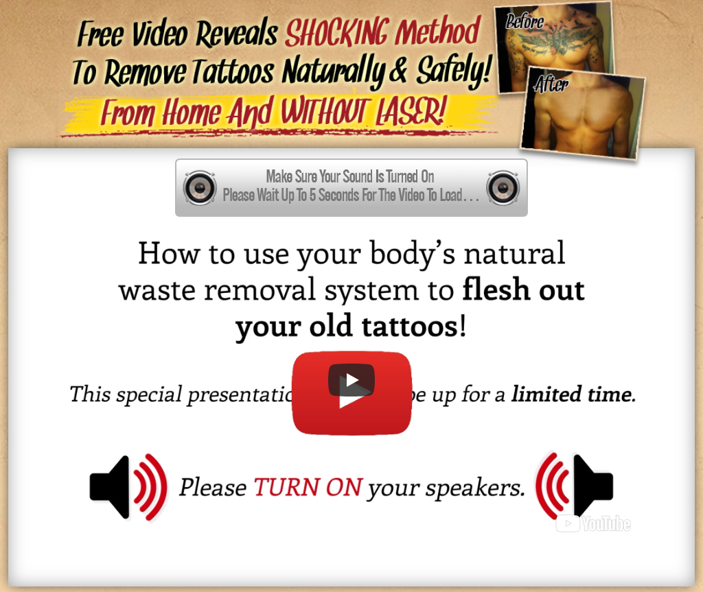 Home Tattoo Removal in a Natural Safest Way