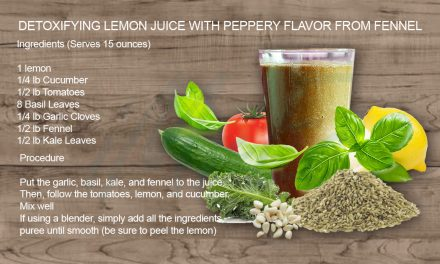 Detoxifying lemon juice with peppery flavor from fennel