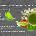 Rich in vegetable green juice that flush out body toxins