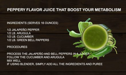 Peppery flavor juice that boost your metabolism