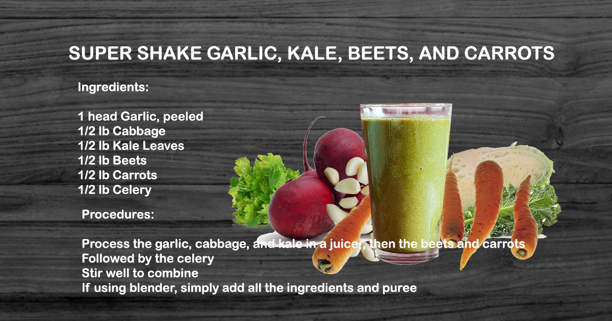 Super Shake Garlic, Kale, Beets, and Carrots